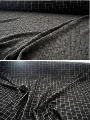 Schurwollmischung, graphit und grau