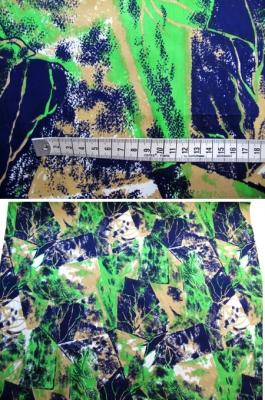 Baumwollmischung - abstraktes Blattmotiv