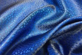 Futterjacquard - kleine Blumen blau