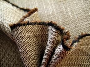 Baumwollmischung - Fischgrat
