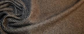 Rest Schurwolle - braun und beige