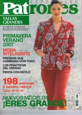 Patrones 2007 Especiales Tallas Grandes No. 38